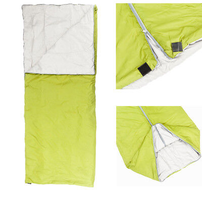 Summer Camping Hiking Single Envelope Sleeping Bag Outdoor Travel /w Carry Bag