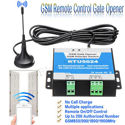 RTU5024 GSM Auto Door Gate Opener Wireless Remote Control Relay Free Call SMS