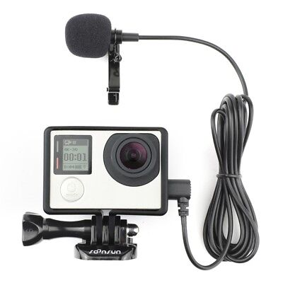 Protective Standard Frame Housing + Microphone External Mic for GoPro HERO4 3+ 3