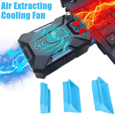 Mini Vacuum Air Extracting USB Cooling Pad Cooler Fan for PC Notebook Laptop