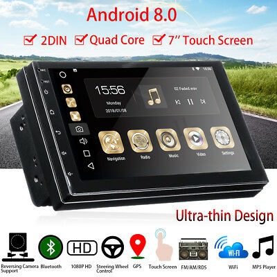2Din 7in Android 8 WiFi HD GPS Navi Car Stereo MP5 Player Bluetooth FM AM Radio