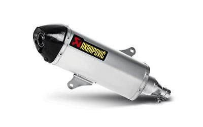 Akrapovic Street Legal Slip-On Muffler SS Piaggio Beverly 350 Sport Tour 12-14