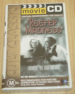 Cult Classis Movie CD Reefer Madness PC CD-ROM - Windows 95 & 3.1 - New & Sealed