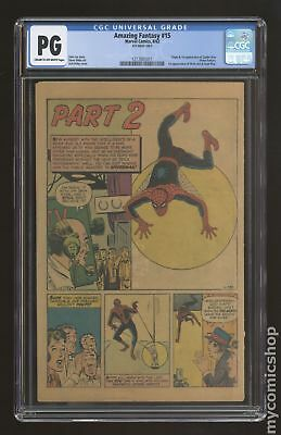Amazing Fantasy (1962) 15 CGC PG 4th Wrap Only 1217001011