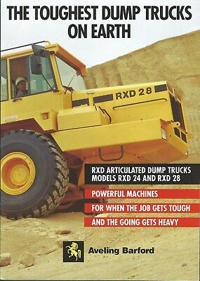 Equipment Brochure - Aveling Barford - RXD24 28 Dump Truck 1989 - Mining (E4891)