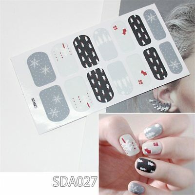 1 Sheet Colorful Nail Sticker Girls Gift Nail Art Stickers Adhesive Full Decals