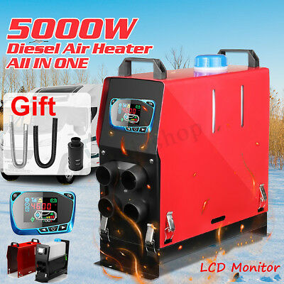 5KW 12V Air Diesel Heater 4 Hole All in One LCD Monitor For Car Trucks Boats Bus