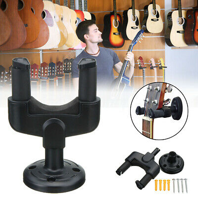 10X Electric Guitar Wall Hanger Holder Stand Rack Hook Mount For All Size+screws