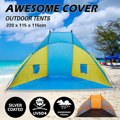 Beach Tent Dark Blue Rain Sun Protection Shade Festival Shelter Camping Fishing