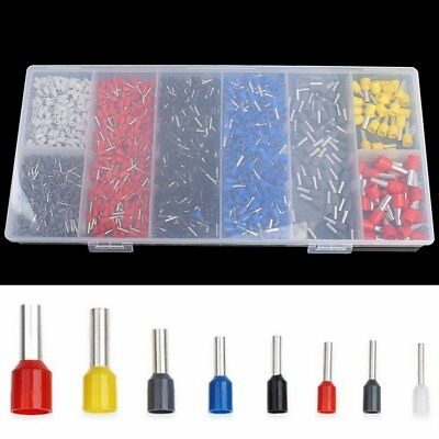 1200x Insulated Assorted Electrical Wiring Connectors Crimp Terminals Set Kit HF