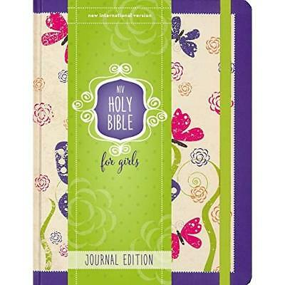 NIV Holy Bible for Girls, Journal Edition, Hardcover, P - Hardcover NEW Zonderva