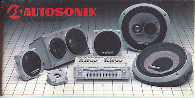 Autosonik Gamma Car Audio Radio small brochure/prospekt/folder USA 1982