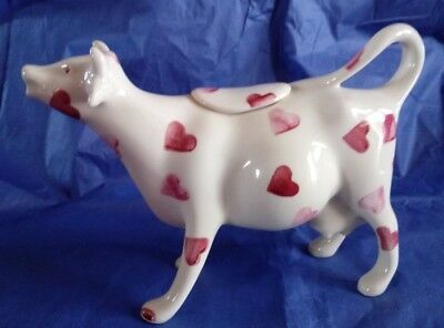 Emma Bridgewater Pink Hearts Cow Creamer in excellent condition