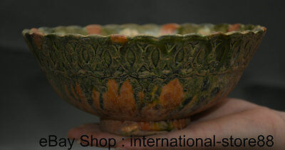 "7.6"" Old Chinese Tang Sancai Pottery Porcelain Dynasty Palace Bowl Vessel"