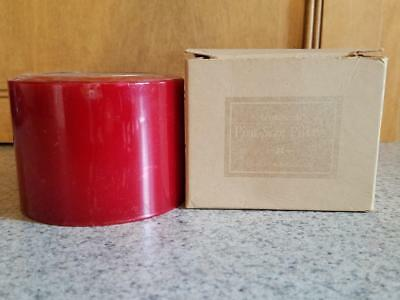 LONGABERGER Pint-Size MCINTOSH APPLE Scented Pillar Candle - NEW IN BOX!