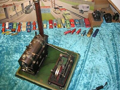 Doll groß elektrische Dampfmaschine Vorkrieg Germany Steam Tin Tole Latta Vapeur