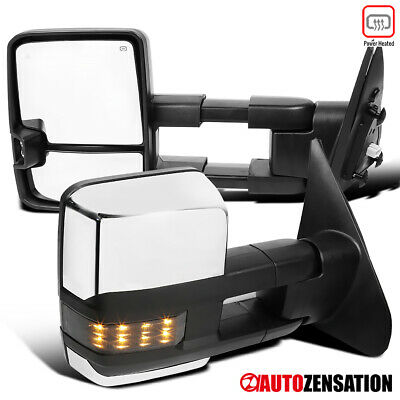 For 2007-2017 Toyota Tundra Sequoia HEATED+POWER Extend LED Signal Tow Mirrors