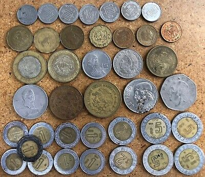 Mexico Coins - Lot of 39 - Mexican Peso Centavos
