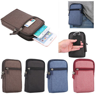 Denim 6.3 Inch Phone Bag Pen Slot Pouch Wallet Belt Case For iPhone X SamsungS9
