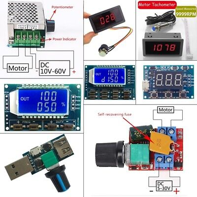 PWM Motor Speed Controller Switch PWM Pulse Frequency Duty Cycle Module Lot
