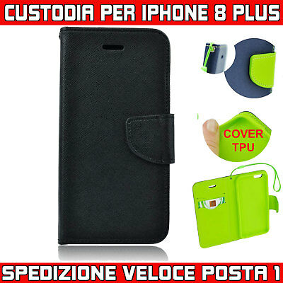 custodia a libro per iphone 8