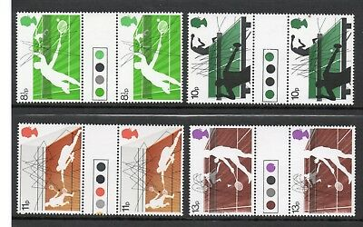 GB 1977 Racket Sports traffic light gutter pairs MNH Unfolded stamps