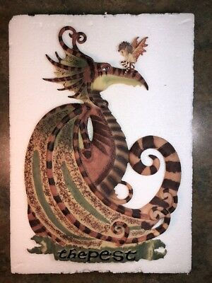 "Amy Brown Wall Hanging ""The Pest"" Dragon Fairy Limited Edition 2003 12 X 8"""