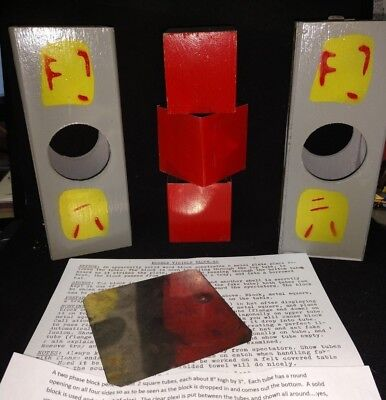 Vintage Homer Hudson Louis Tannen No.872 DOUBLE VISIBLE BLOCK-GO Magic Trick