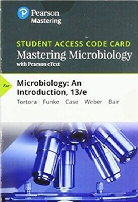 MasteringMicrobiology Pearson Access Card Microbiology: An Introduction 13th