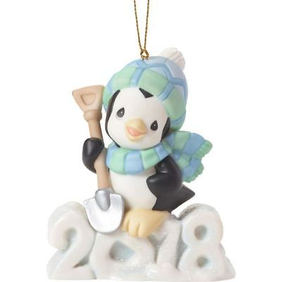 PRECIOUS MOMENTS Dated 2018 Ornament PENGUIN Wishing You A Cool Yule 181009 NEW