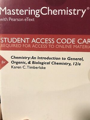 Access Card Chemistry: An Introduction to General, Organic, & Biological 12th