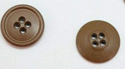 WWII US butterscotch brown buttons 19mm 3/4in 30 ligne pair B4304
