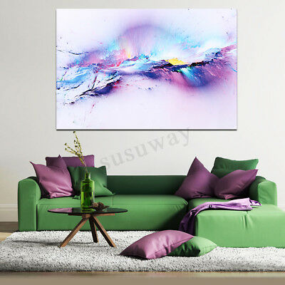 Abstract Cloud Colorful Love Painting Canvas Print Picture Wall Art Home Decor