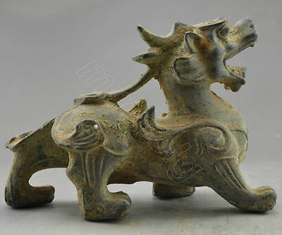 Collectible Vintage Decorated Old Handwork Bronze Carved Dragon Statue