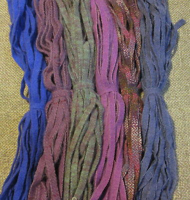 LAVENDER FIELDS  150 Hand and Mill dyed  #8 Rug Hooking Wool Strips