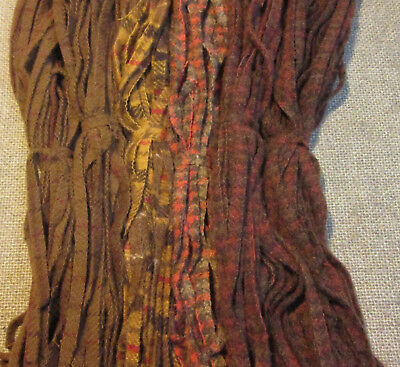 Chocolates & Plaids 150 Hand and Mill dyed  #8 Rug Hooking Wool Strips
