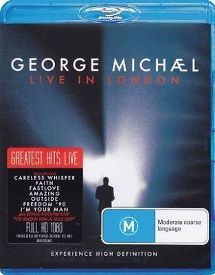 GEORGE MICHAEL Live In London BLU-RAY BRAND NEW