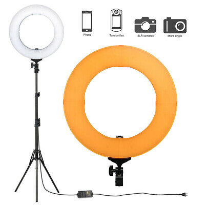 Double Way 14inch Dimmable ZOMEI LED Ring Light & Adjustable Tripod Stand Kit