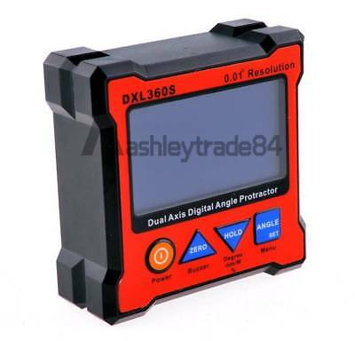 Professional DXL360S Dual Axis Digital Protractor Inclinometer Level Box 0.01°