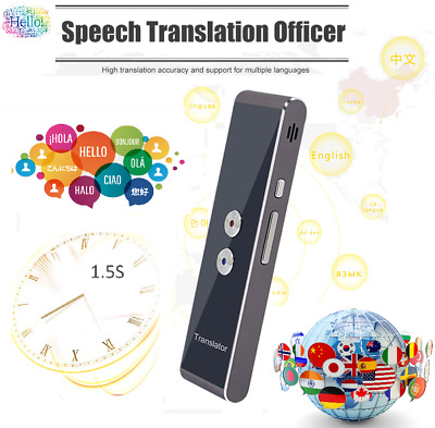 Multi-Language 🈺➡🆎 Portable Wireless 2-Way Real Time Instant Voice Translator