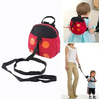 Kids Children Keeper Anti-Lost Harness Ladybug Backpack Fine Leash Strap Bag