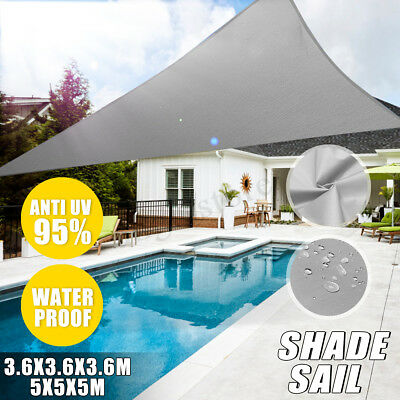 Sun Shade Triangle Square Sail Garden Canopy Patio Cover 300D Awning UV Block US