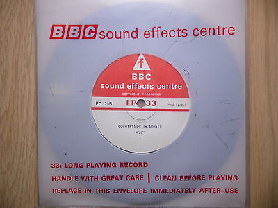 """BBC Sound Effects 7"""" Record - Countryside in Summer, Winter in a Suburban Garden"""