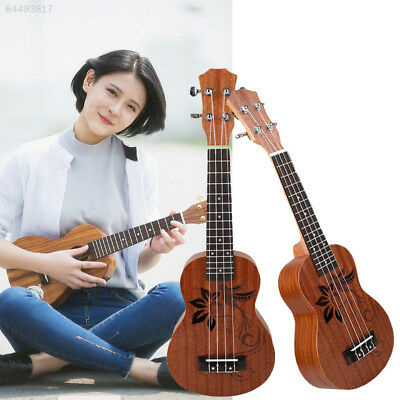 E1CE Professional Vintage Brown Color Wooden Ukulele Ukulele Music Arch