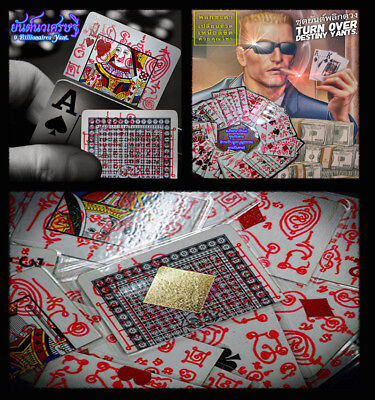 Thai Amulet Charming Exploding Casino Winning Card Wealth,Luck By Phra Arjan O