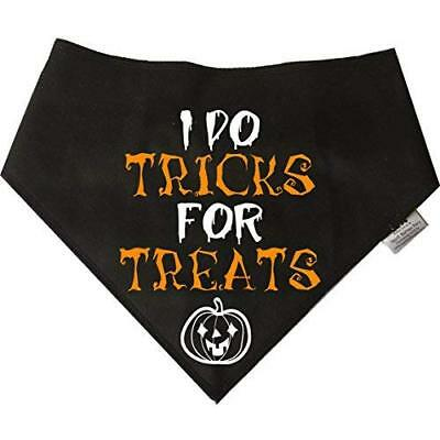 Spoilt Rotten Pets Dog Bandana - (S2) Halloween 'Tricks for Treats' SIZE 2: For