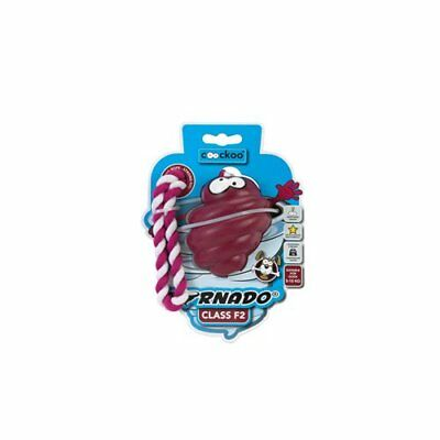 Coockoo Tornado F2 Dog-Toy with Rope, 7 to 16 kg, 6.9 x 6.9 x 8.5 cm, Red