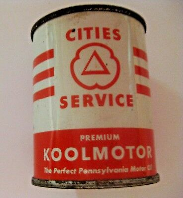 Vintage Cities Service Gas & Oil Advertising Metal Oil Can Promotional Bank