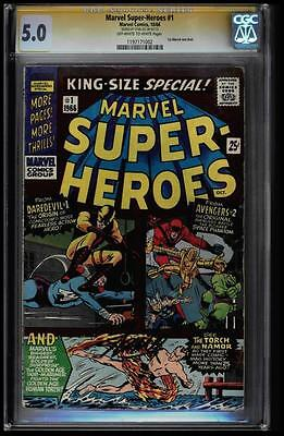 Marvel Super-Heroes #1 Cgc 5.0 Oww 1St Marvel One Shot Ss Stan Lee #1197171002