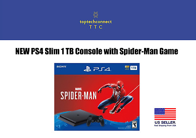 NEW PS4 Slim 1 TB Console with Spider-Man Game